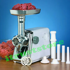 POWERFUL ELECTRIC MEAT GRINDER SAUSAGE MINCER MAKER GRINDS 2 LB CUT MEAT PER MIN