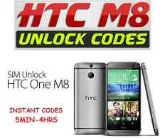 Unlock any HTC One M8 - UK IRELAND USA CANADA Networks Unlocking Code Pin Fast