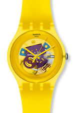 "SWATCH NEW GENT ""YELLOW LACQUERED"" (SUOJ100) NEUWARE"