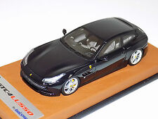 1/43 Looksmart Ferrari GTC4 Lusso in Blue Pozzi on Tan Leather Base