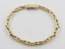 "18k Yellow Gold Rolo Fancy Link Charm Bracelet 7"" 15.7 grams"