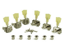 Kluson Tuners 3+3 Pearl Keystone Nickel Vintage Tuners fits Gibson Les Paul,SG,V