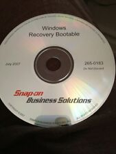 Snap On Business Solution 2650183 Windows Recovery Bootable Diagnostic Disc