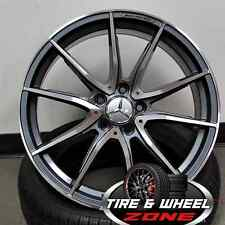 "19"" Gun Metal Machine AMG Style Wheels Mercedes Benz C Class E Class C63 CLA"