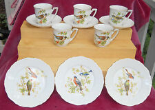 ANTIQUE CHILDS TEA SET 11 PC BIRDS ROBIN PORCELAIN GERMANY SILESIA NPS CHILDRENS