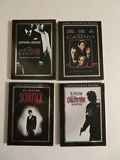 DVD Movie Collection Set SCARFACE,CARLITOS WAY,CASINO,AMERICAN GANGSTER