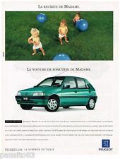 PUBLICITE ADVERTISING  105  1992  PEUGEOT  la 106 XT 5 portes