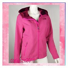 The North Face Women's Hoodie Windwall Jacket Pink Medium  Osito Soft Shell