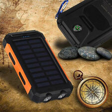100000mAh Waterproof Solar Power Bank Portable External Battery Charger Phone