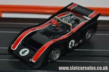 Tyco Black McLaren M8F with Curve Hugger chassis HO slot car