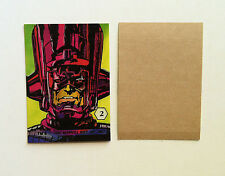 1987 MARVEL MAGIC MOMENTS STICKER #2 GALACTUS NM+/M FANTASTIC FOUR SILVER SURFER