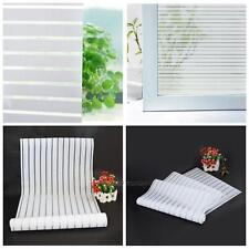 Frosted Window Privacy Film Etch Glass Self Adhesive Striped Sticker Home Decor
