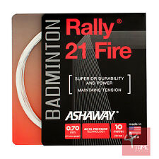 Ashaway Rally 21 Fire 0.70mm Badminton String Set - White