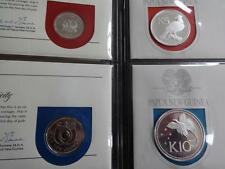 1975 FULL SET OF 8 PAPUA NEW GUINEA COINS & STAMPS PNC NEW CURRENCY SILVER 10