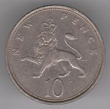 United Kingdom 1971 10p Pence Copper-Nickel Coin