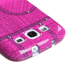 Pink Jeans w/Stud Snap-On Hard Case Cover Accessory for Samsung Galaxy S3