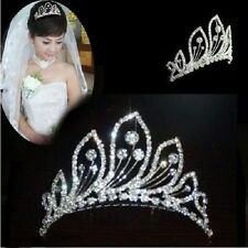 Stunning Bridal Rhinestone Peacock Pattern Crown Hair Comb LKT0002 Pin Tiara