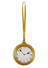 INFLATABLE CLOCK PARTY SUPPLIES BLOW UP POCKET WATCH FANCY DRESS ALICE DECOR