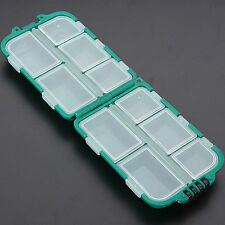 Outdoor Lure Fishing Tackle 10 Compartments Case Bait Spoon Hook Rig Storage Box