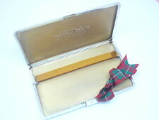 Silver Cigarette Case, Sterling, English, Vintage, Hallmarked 1938 LARGE.
