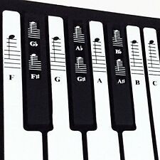 Piano and Keyboard Music Note Full Set Stickers for White and Black Keys with &