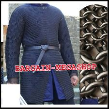 Butted Chainmail Shirt Large F Sleeve Chain Mail Armor Chainmaile Haubergeon A1