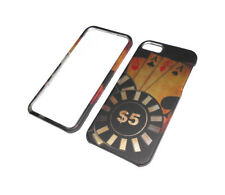 NEW 5$ DOLLAR ACES RIGID PLASTIC 2-PIECE IPHONE 5 5S CASE SUPER FAST SHIPPING
