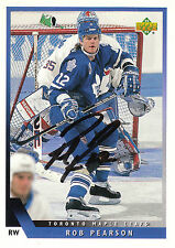 ROB PEARSON MAPLE LEAFS AUTOGRAPH AUTO 93-94 UPPER DECK #48 *21793