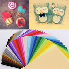 40PCS Rainbow Colorful Felt Sheets DIY Craft Polyester Blend Fabric Handcraft