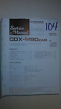 Pioneer cdx-m90zar service manual original repair book stereo cd player