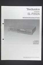 Technics sl-p202a original mode d'emploi/user/owner's Manual!
