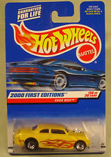 Hot Wheels Shoe Box lace wheels yellow 2000 First Edition #26/36