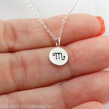 Scorpio Necklace - 925 Sterling Silver - Tiny Horoscope Zodiac Charm Jewelry NEW