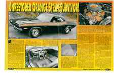 1971 DODGE CHALLENGER R/T 340  ~  NICE 4-PAGE MUSCLE CAR ARTICLE / AD