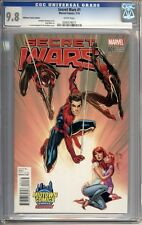 Secret Wars #1  J. Scott Campbell Variant Spider-Man Mary Jane 1st Print CGC 9.8