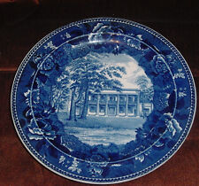 WEDGWOOD HERMITAGE HOME OF ANDREW JACKSON BLUE AND WHITE PLATE RARE ANTIQUE