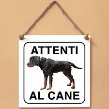 Setter Gordon 2 Attenti al cane Targa piastrella cartello ceramic tile sign dog