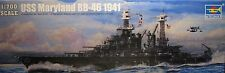 "1/700 USS Maryland BB-46 ""1941"" Model Kit by Trumpeter"