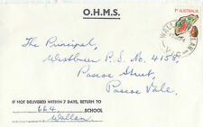 Postmark 1974 WALLAN WALLAN Victoria on OHMS school cover to Pascoe Vale
