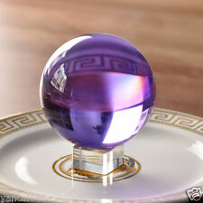 Unique 60mm amethyst Magic Crystal Healing Ball Sphere With Crystal Stand Decor