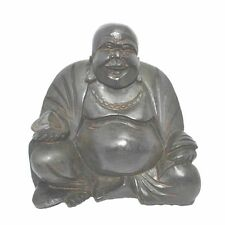 20cm Black Chinese Happy Laughing Buddha Statue
