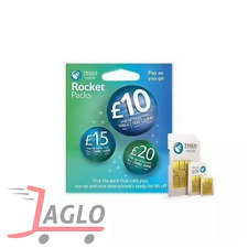 TESCO Mobile sim card 3 in 1 superfast 4G (ROCKET PACK) DOUBLE DATA!!
