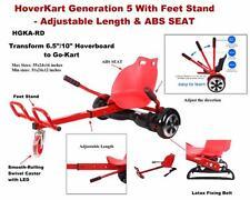 Hoverboard Cart Hover Kart Adjustable Go Kart With ABS Seat- Red