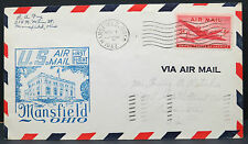 US Air Mail First Flight Mansfield Ohio 1947 5c Stamp Luftpost Brief (Lot 8315