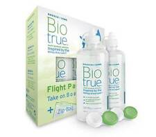 Biotrue Multi Purpose Contact Lens Solution 2 x 60ml Flight Pack 2 Cases Zip Bag