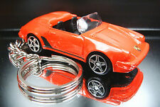 Porsche 911 Speedster Key Chain Ring Red Cabriolet Diecast Custom Fob