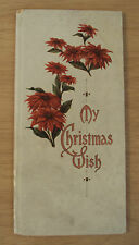 "Antique ca 1910 ""MY CHRISTMAS WISH""~Hayes Lithographing Co~"