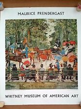 Maurice Prendergast - Central Park painting, Whitney Museum of Modern Art poster