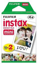 FUJIFILM INSTAX MINI 7 7S 8 90 INSTANT CAMERA FILM 20 SHOTS PHOTOS TWIN PACK