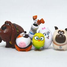 6PCS/LOT The Secret Life of Pets film Action Figures kids PVC toys gift 4-7cm